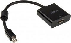 Adapter AV Akasa DisplayPort Mini - HDMI 0.2m czarny (AK-CBDP09-20BK) 1