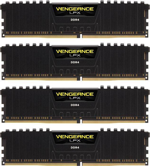 Pamięć Corsair Vengeance LPX, DDR4, 32 GB, 2400MHz, CL16 (CMK32GX4M4A2400C16) 1