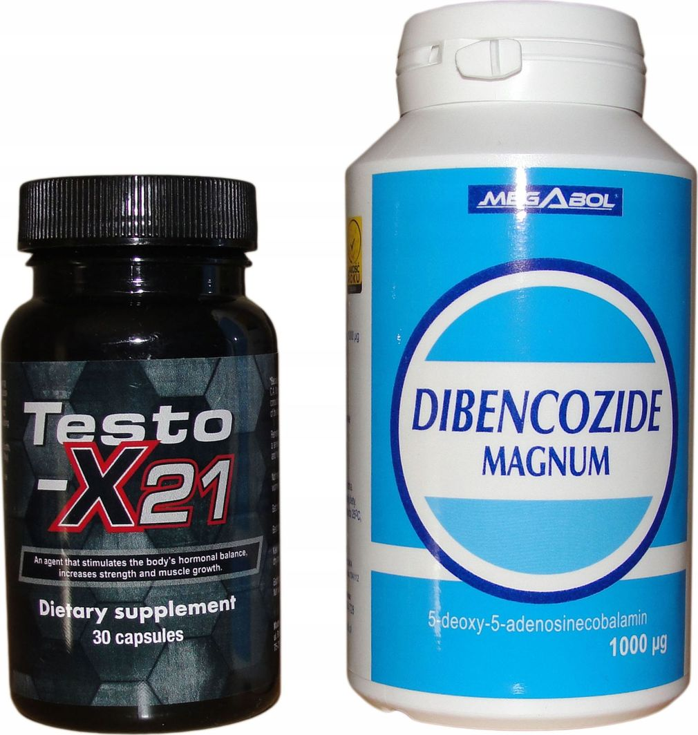 Testox X 21 + Dibencozide dla zawodników mocny zestaw 1