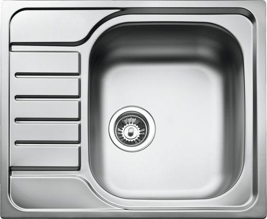 Teka Zlewozmywak 1-komorowy E 50 MTX z ociekaczem 58 x 58cm stalowy (30000061) 1
