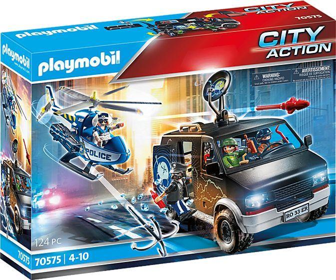 Playmobil Policyjny helikopter: Pościg za uciekającym samochodem (70575) 1