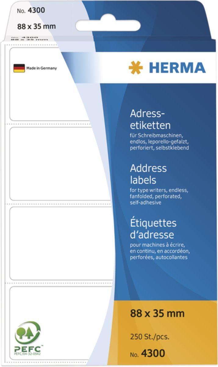 Herma papier do etykiet 88x35 mm (4300) 1