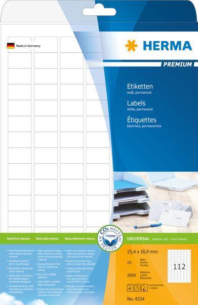 Herma Etykiety Premium A4, białe, papier matowy, 2800 szt., zaokrąglone narożniki. (4334) 1