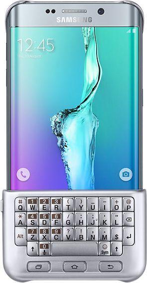 Samsung Galaxy S6 Edge Osłona z klawiaturą QWERTY, Srebrny (EJ-CG928BSEGWW) 1