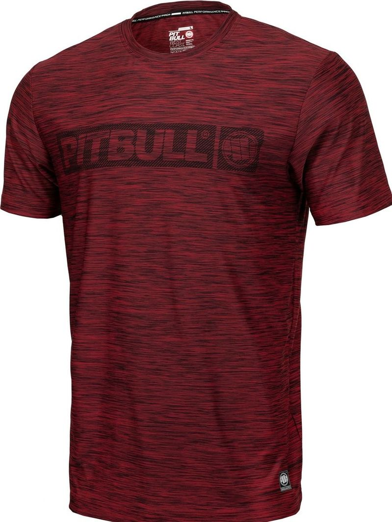 Pit Bull West Coast Koszulka Pit Bull Casual Sport Hilltop'20 - Bordowy Melanż M 1