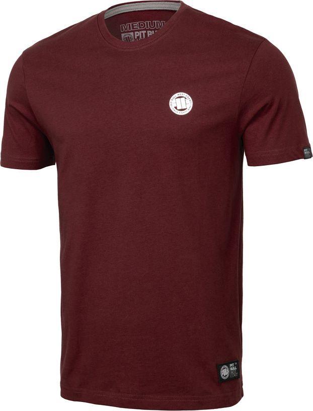 Pit Bull West Coast Koszulka Pit Bull Small Logo '20 - Bordowa L 1