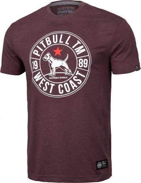 Pit Bull West Coast Koszulka Pit Bull Calidog'19 - Bordowa M 1