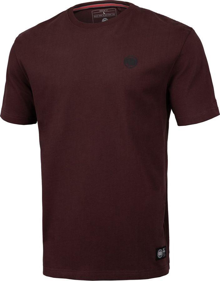 Pit Bull West Coast Koszulka Pit Bull Regular Fit 210 Small Logo '20 - Bordowa S 1