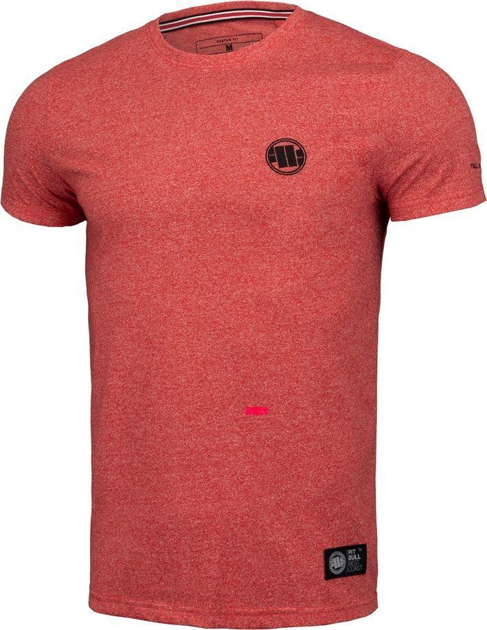 Pit Bull West Coast Koszulka Pit Bull Custom Fit Melange Small Logo'20 - Czerwona M 1