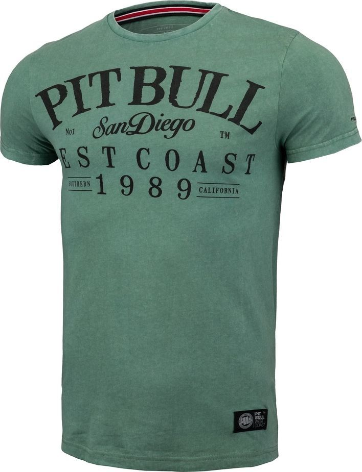 Pit Bull West Coast Koszulka Pit Bull Denim Washed Oldschool'20 - Zielona M 1