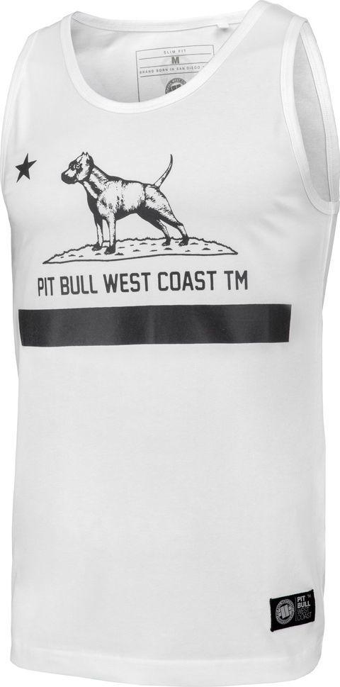 Pit Bull West Coast Tank Top Pit Bull Slim Fit Lycra Cal Flag'20 - Biały L 1