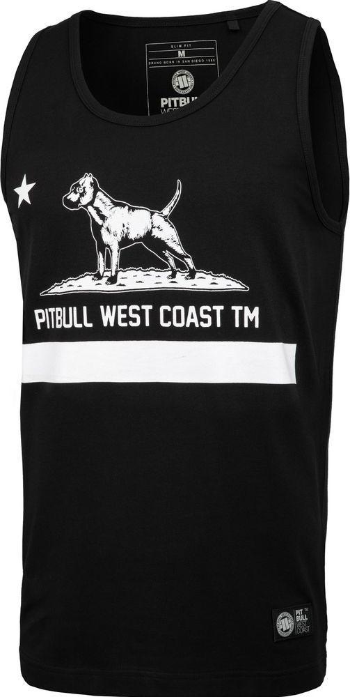 Pit Bull West Coast Tank Top Pit Bull Slim Fit Lycra Cal Flag'20 - Czarny XL 1
