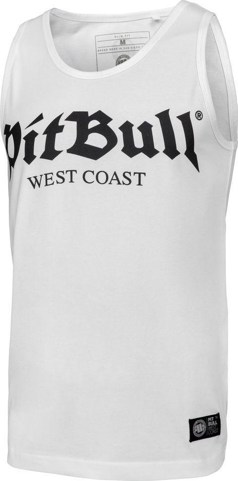 Pit Bull West Coast Tank Top Pit Bull Slim Fit Lycra Old Logo'20 - Biały S 1