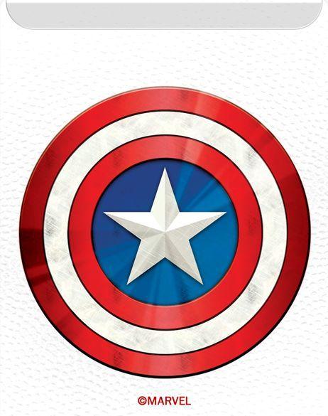 Kieszonka na kartę Kapitan Ameryka 001 Marvel biała 1