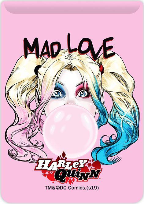 Kieszonka na kartę Harley Quinn 001 DC różowa 1