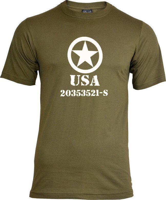 """Mil-Tec t-shirt Mil-Tec """"Allied Star"""" olive XXL 1"""