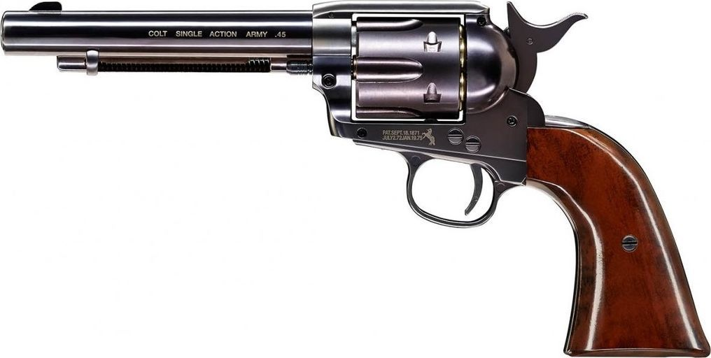 """Colt wiatrówka - rewolwer COLT SINGLE ACTION ARMY 45 PEACEMAKER BLUED 5,5"""" 1"""