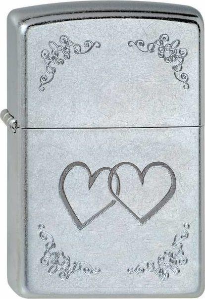 Zippo Zapalniczka srebrna motyw serca 1