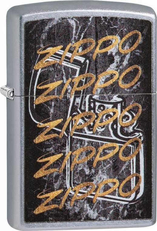 Zippo Zapalniczka napis Zippo złoty 1