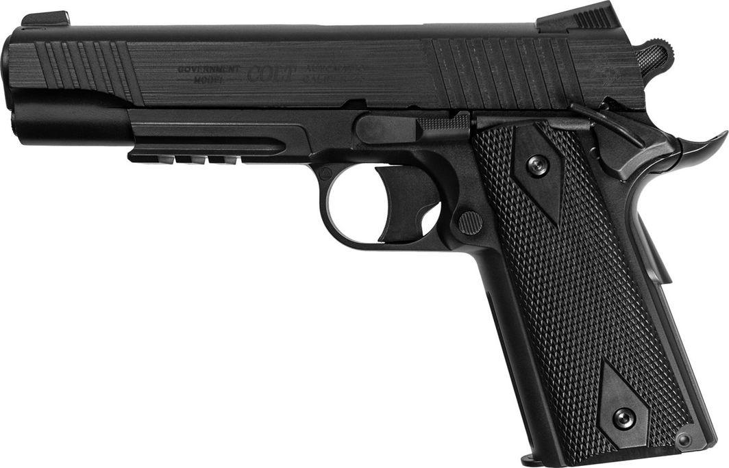 Cybergun Pistolet 6mm Cybergun Colt Rail Gun NBB CO2 culass 1