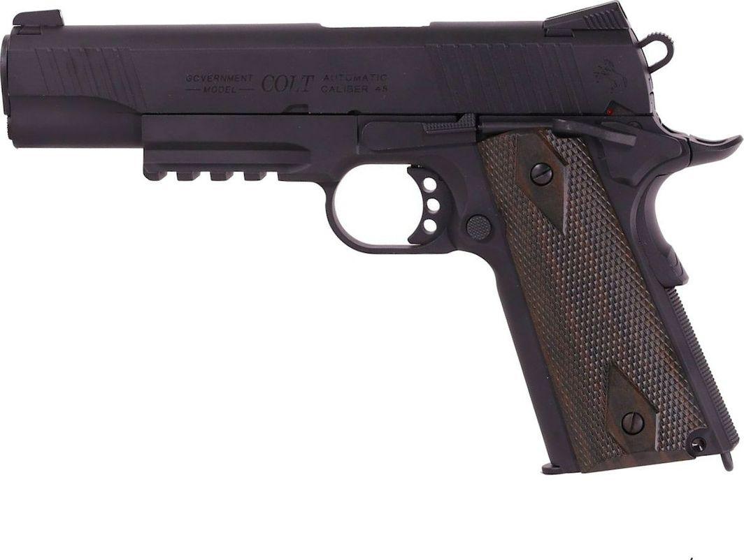 Cybergun Pistolet 6mm WE 1911 railed MEU GBB Gas Full metal 1