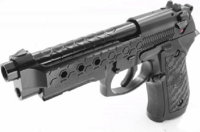 Cybergun Pistolet 6mm Cybergun M92 Hex cut black gas HOPUP 1