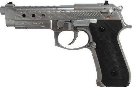 Cybergun Pistolet 6mm Cybergun M92 Hex cut silver gas HOPUP 1