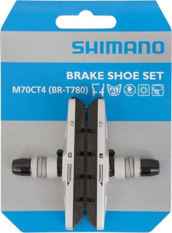 Shimano SHIMANO KLOCKI HAMULCOWE M70CT4 SREBRNE 1