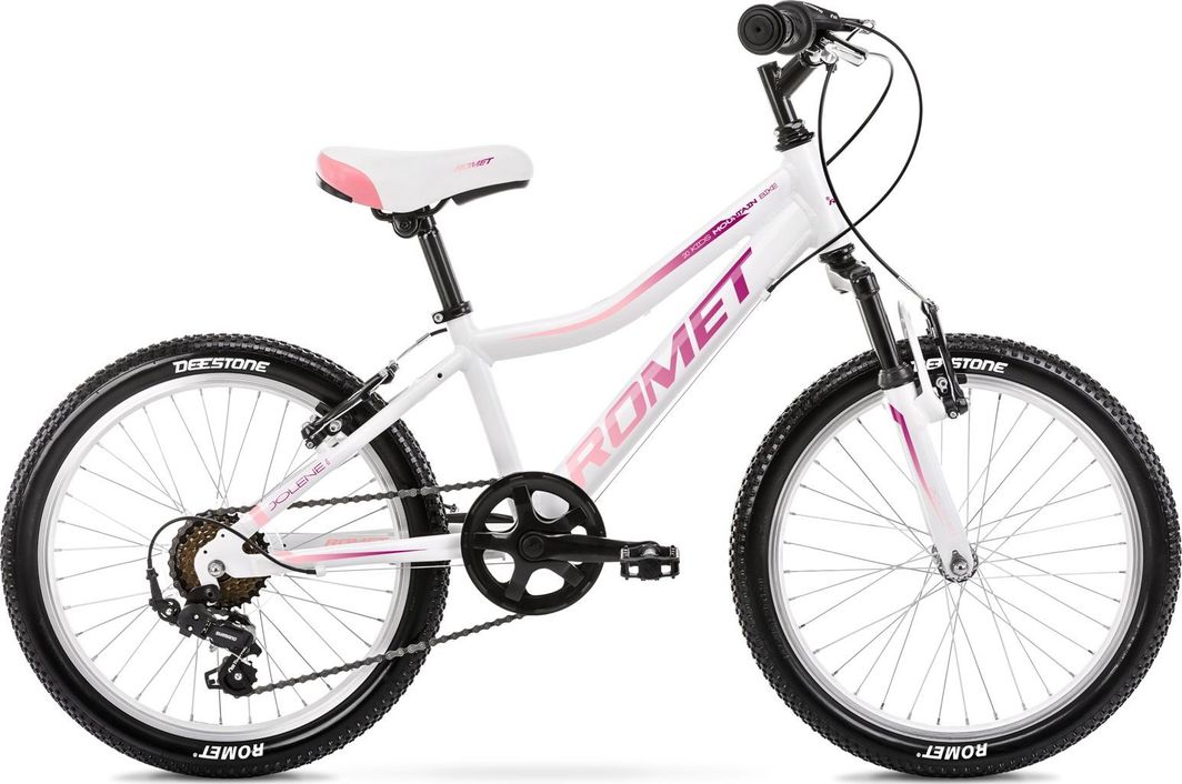 Romet Rower Romet Jolene 20 KID 2 biało fioletowo rożowy 1