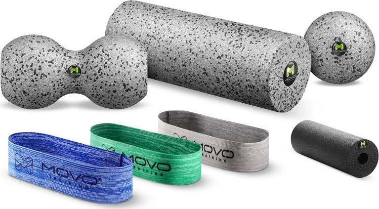 MOVO Roller Zestaw treningowy 7 sztuk Wałek Taśma EPP 1
