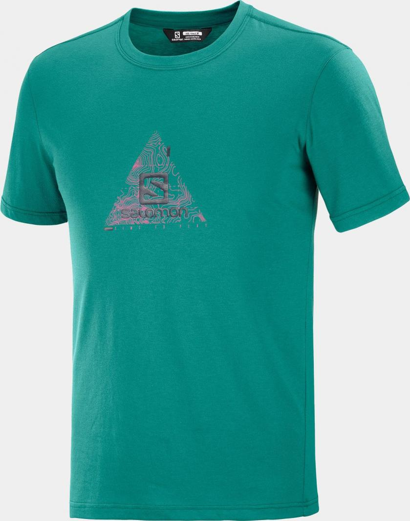 Salomon Koszulka męska Explore Blend Tee M Pacific r. 2XL 1