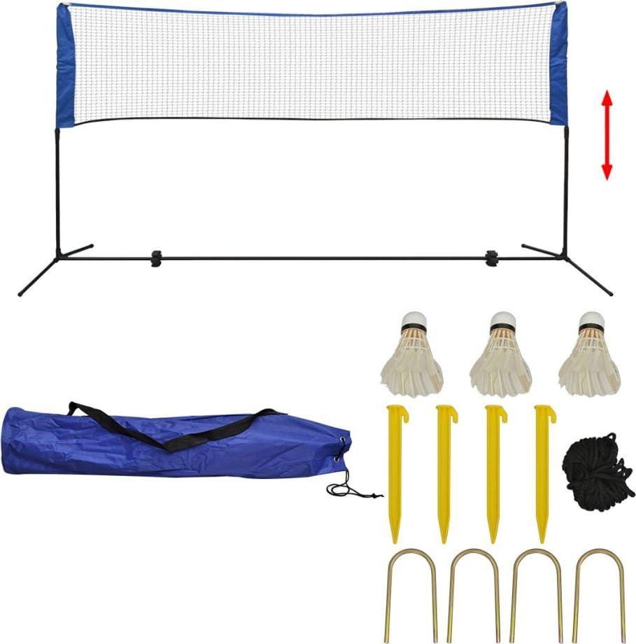 vidaXL Siatka do badmintona, lotki, 300x155 cm 1