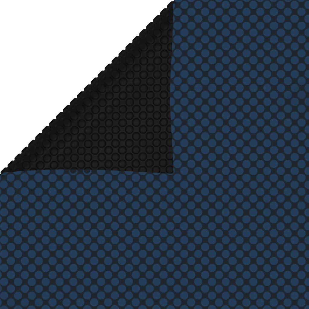 vidaXL Pływająca folia solarna z PE, 600x400 cm, czarno-niebieska 1