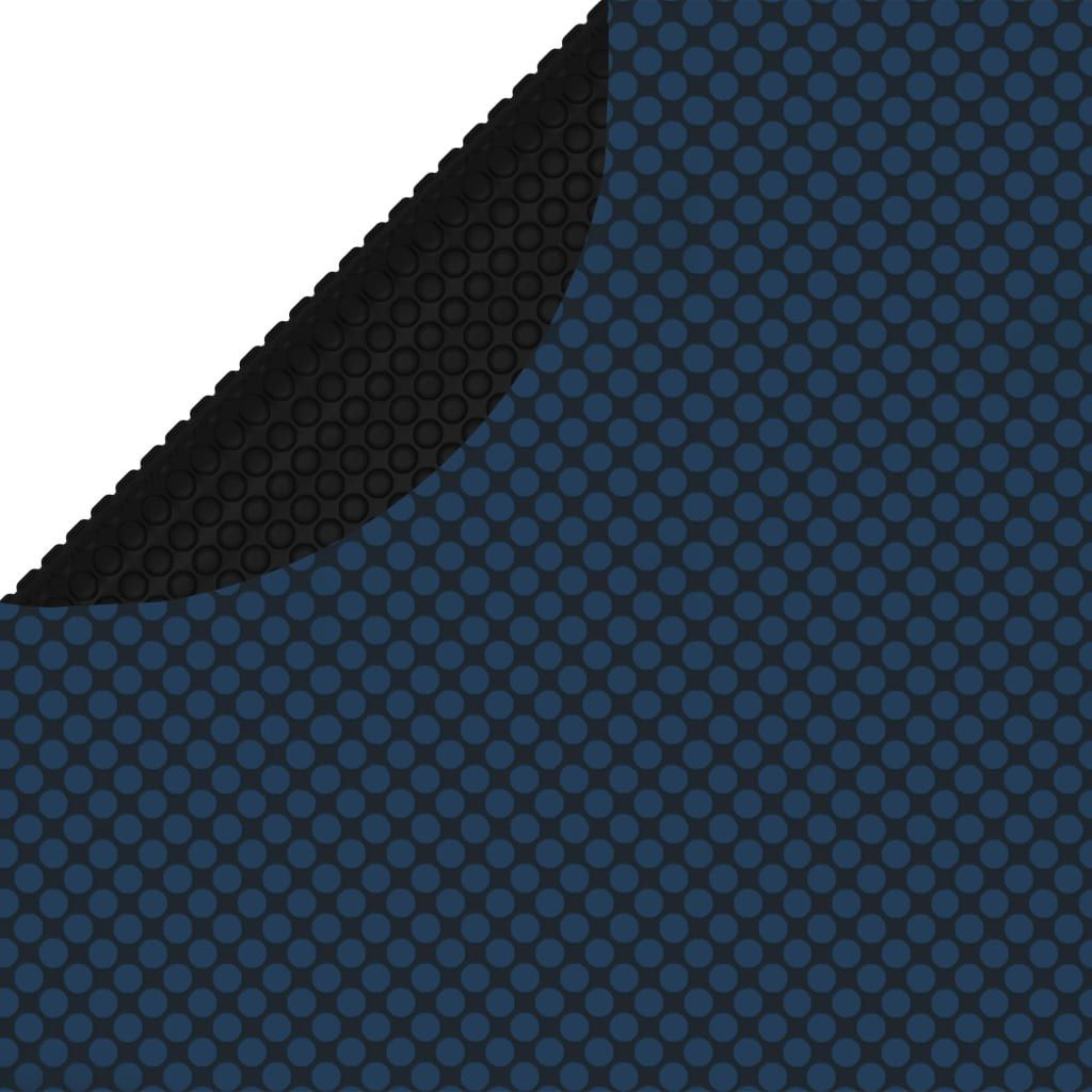 vidaXL Pływająca folia solarna z PE na basen, 210 cm, czarno-niebieska 1