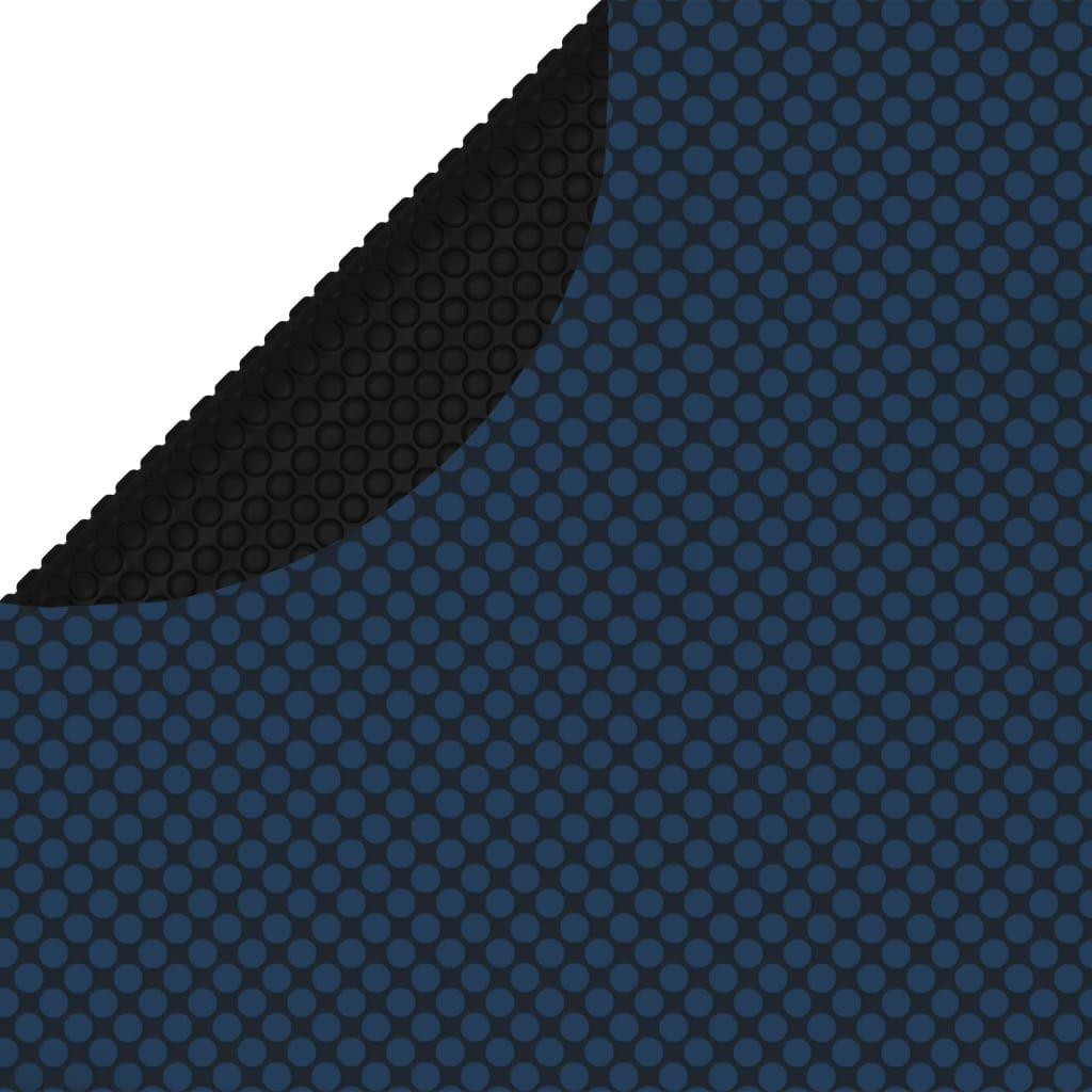 vidaXL Pływająca folia solarna z PE na basen, 356 cm, czarno-niebieska 1