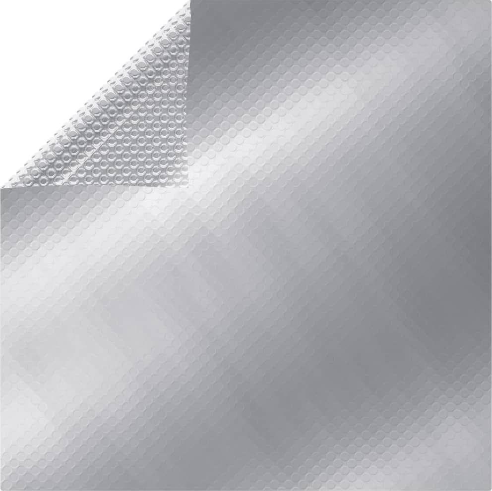 vidaXL Prostokątna folia na basen, 600x400 cm, PE, srebrna 1