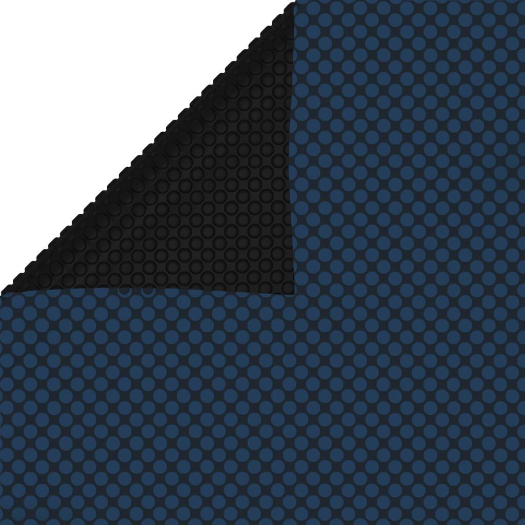 vidaXL Pływająca folia solarna z PE, 400x200 cm, czarno-niebieska 1