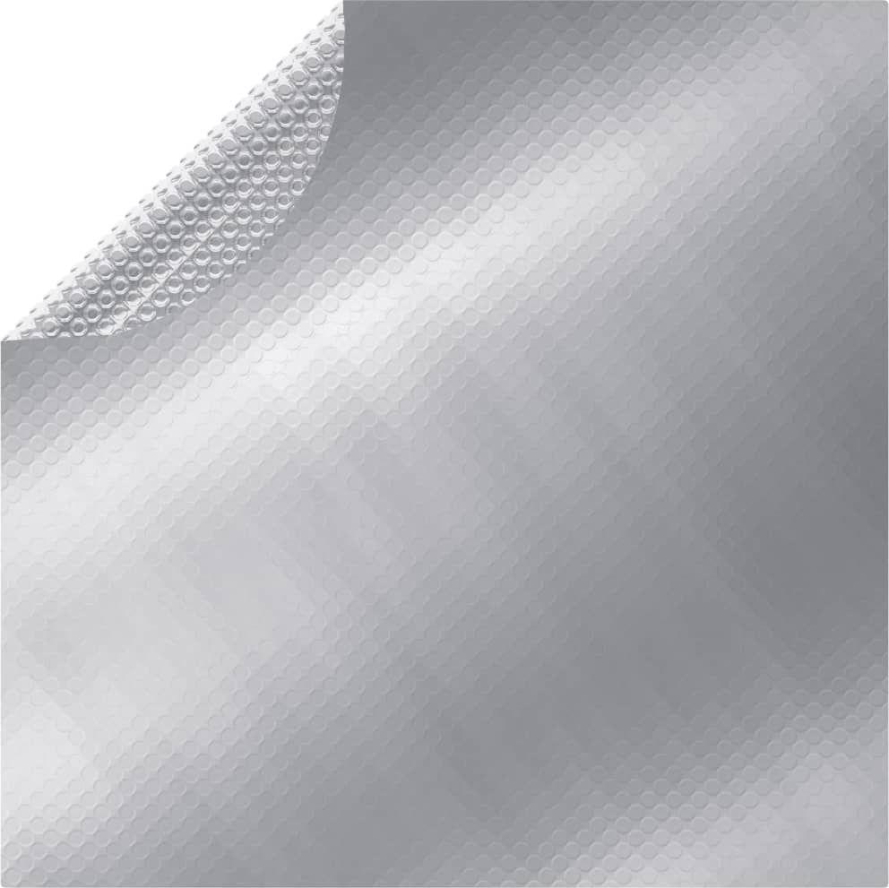 vidaXL Folia na basen, srebrna, 455 cm, PE 1