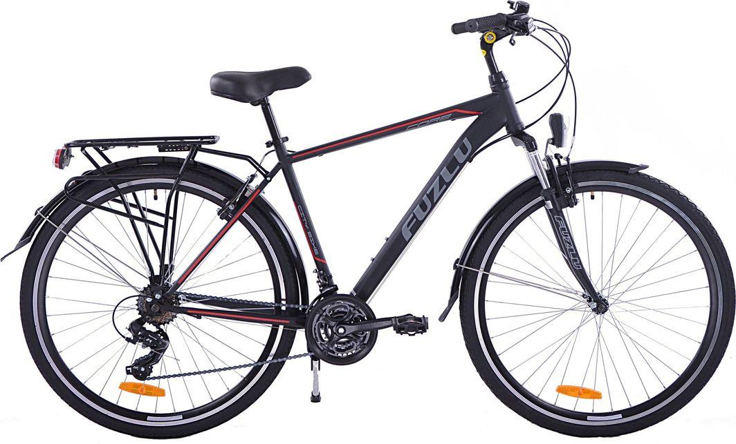 """Fuzlu Rower trekkingowy Core amt czarno-czerwony 19"""" 1"""