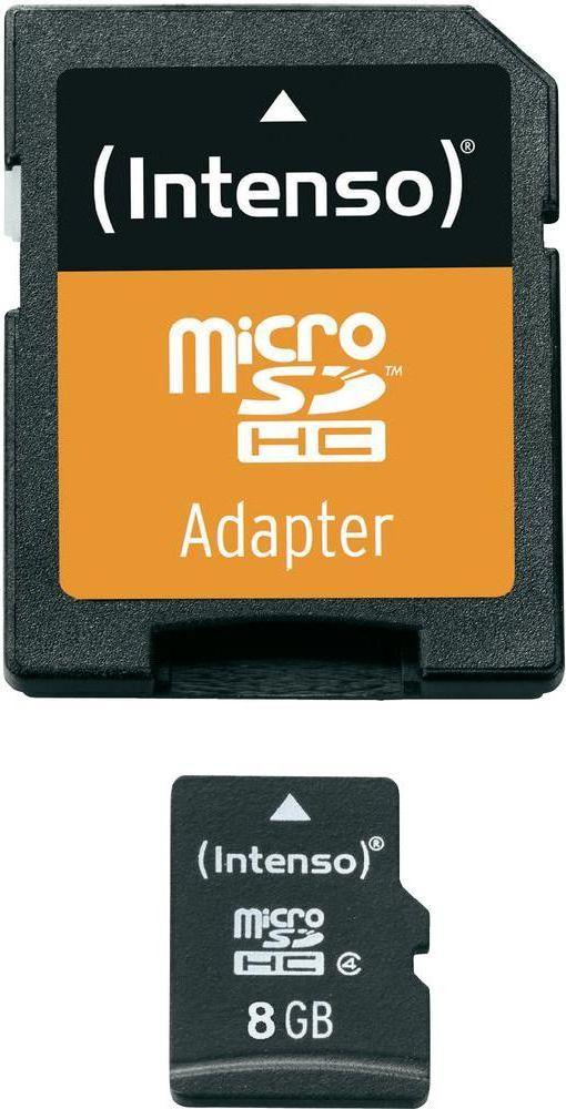 Karta Intenso MicroSDHC 8 GB Class 4  (3403460) 1