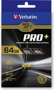 Karta Verbatim Pro+ MicroSDXC 64 GB Class 10 UHS-I/U1  (44034) 1