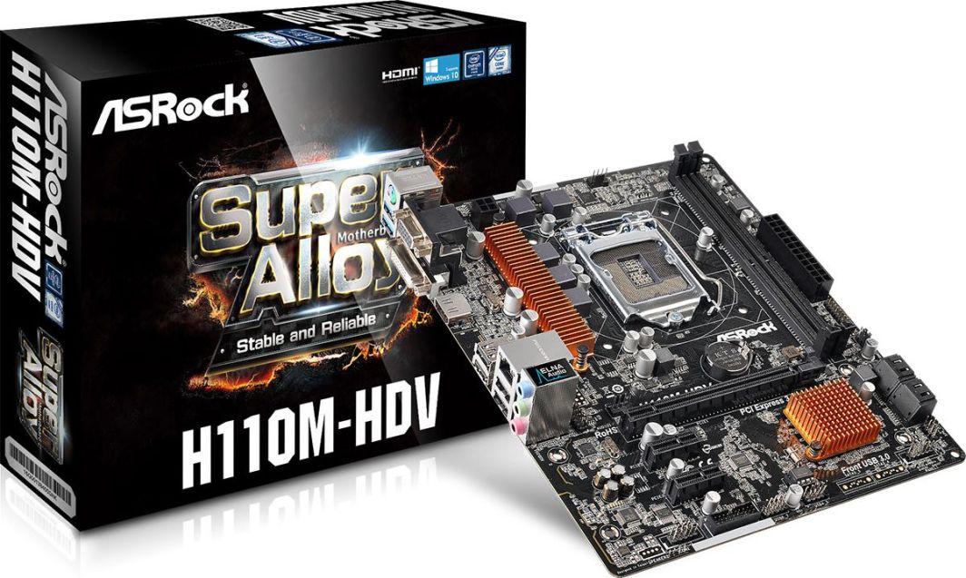 Płyta główna ASRock H110M-HDV (90-MXGZU0-A0UAYZ) 1