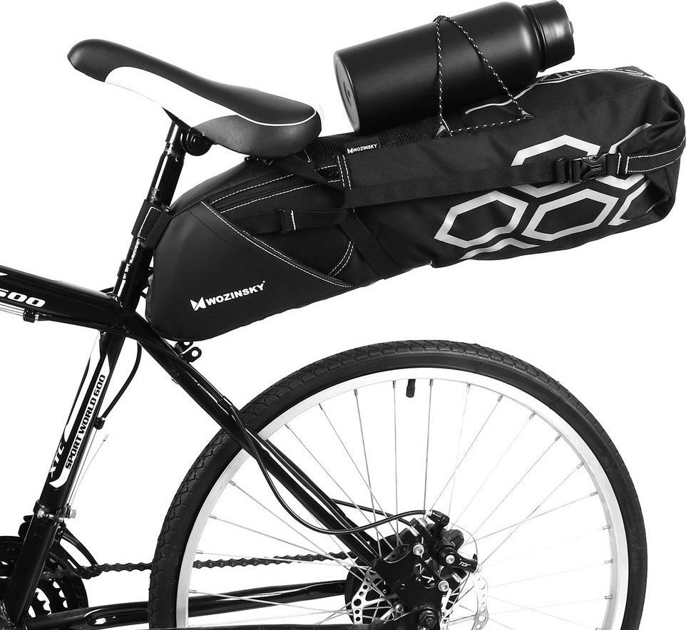 Wozinsky Wozinsky duża pojemna torba rowerowa pod siodełko 12 L czarny (WBB9BK) 1