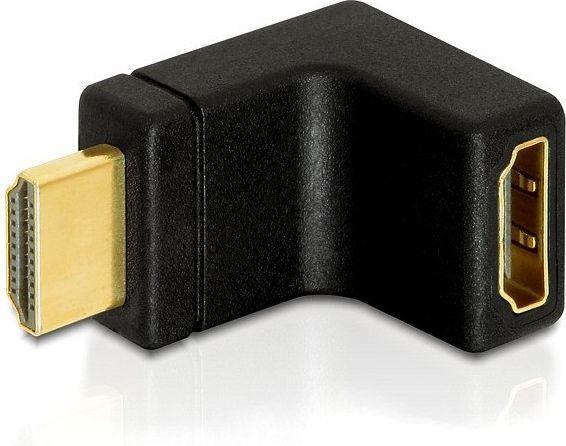 Adapter AV Delock HDMI męski - HDMI żęński 90° (65072) 1