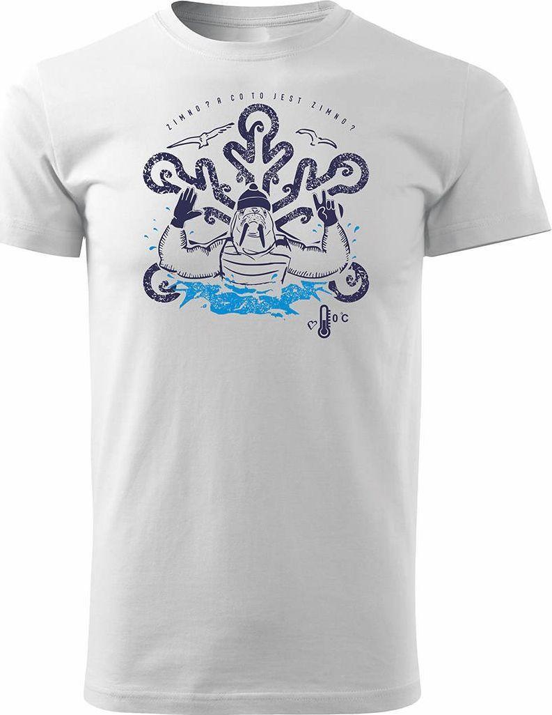 Topslang Koszulka dla morsa z morsem morsowanie męska biała Regular S 1