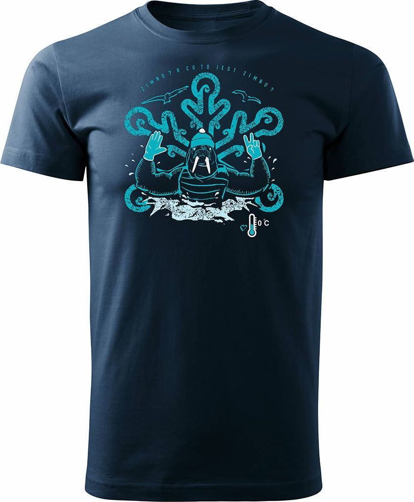 Topslang Koszulka dla morsa z morsem morsowanie męska granatowa Regular XXL 1
