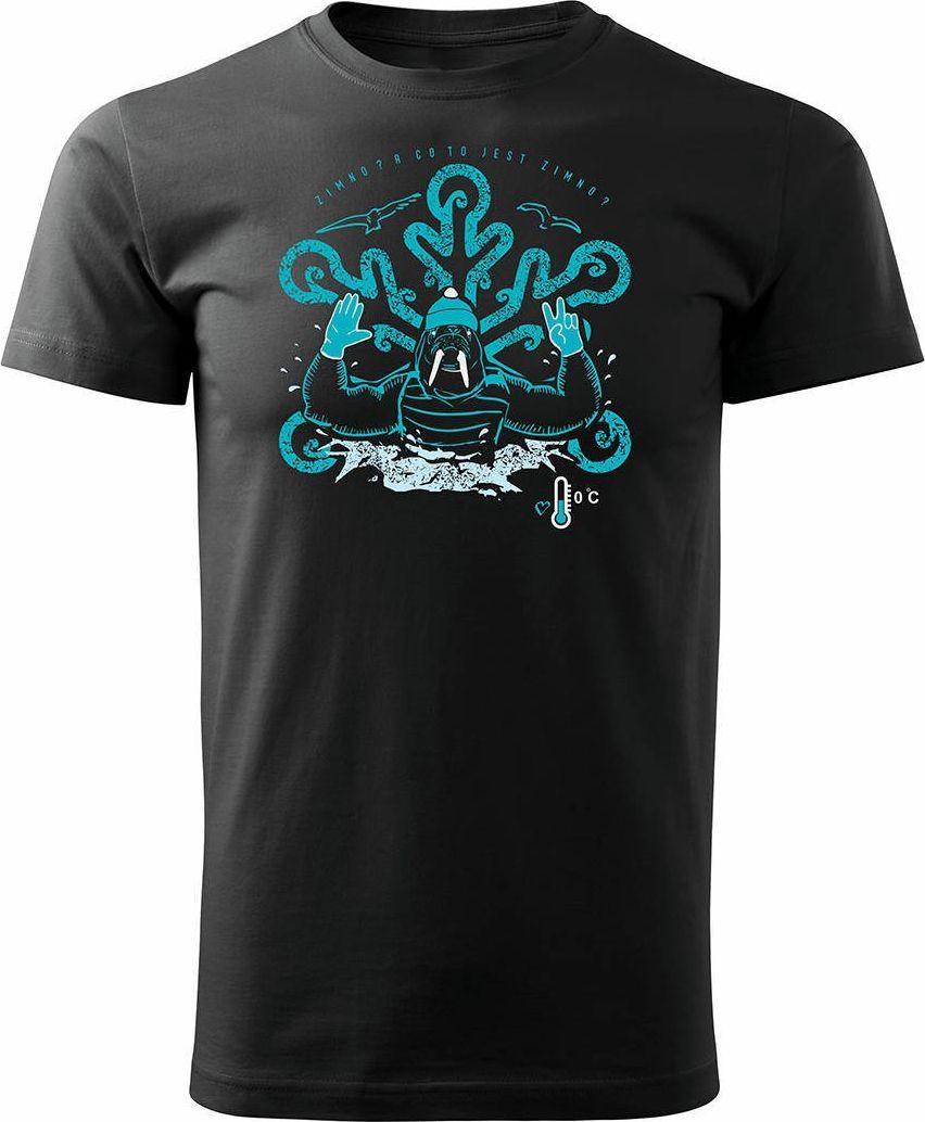 Topslang Koszulka dla morsa z morsem morsowanie męska czarna Regular L 1