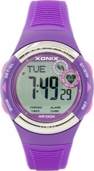 Zegarek Xonix ZEGAREK MĘSKI XONIX HRM3-002 - PULSOMETR I KROKOMIERZ (zk044g) 1