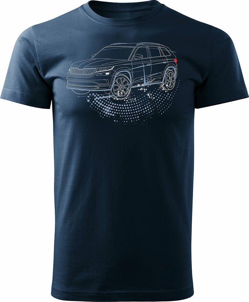Topslang Koszulka z samochodem SUV Skoda Kodiaq męska granatowa REGULAR XXL 1