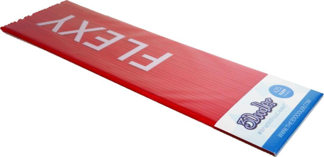 3Doodler Filament FLEXY - Wkłady zapasowe do długopisu 3Doodler 25 sztuk, czerwone (FLX04-RED) 1